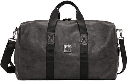 Reisetasche Leder Groß Sporttasche Gym Bag Wasserdicht Handtasche Herren