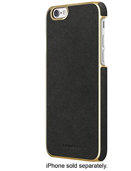 buy online ae8d5 c7039 ADOPTED Leather wrap case for iPhone 6 / 6s Black/Gold APH13254