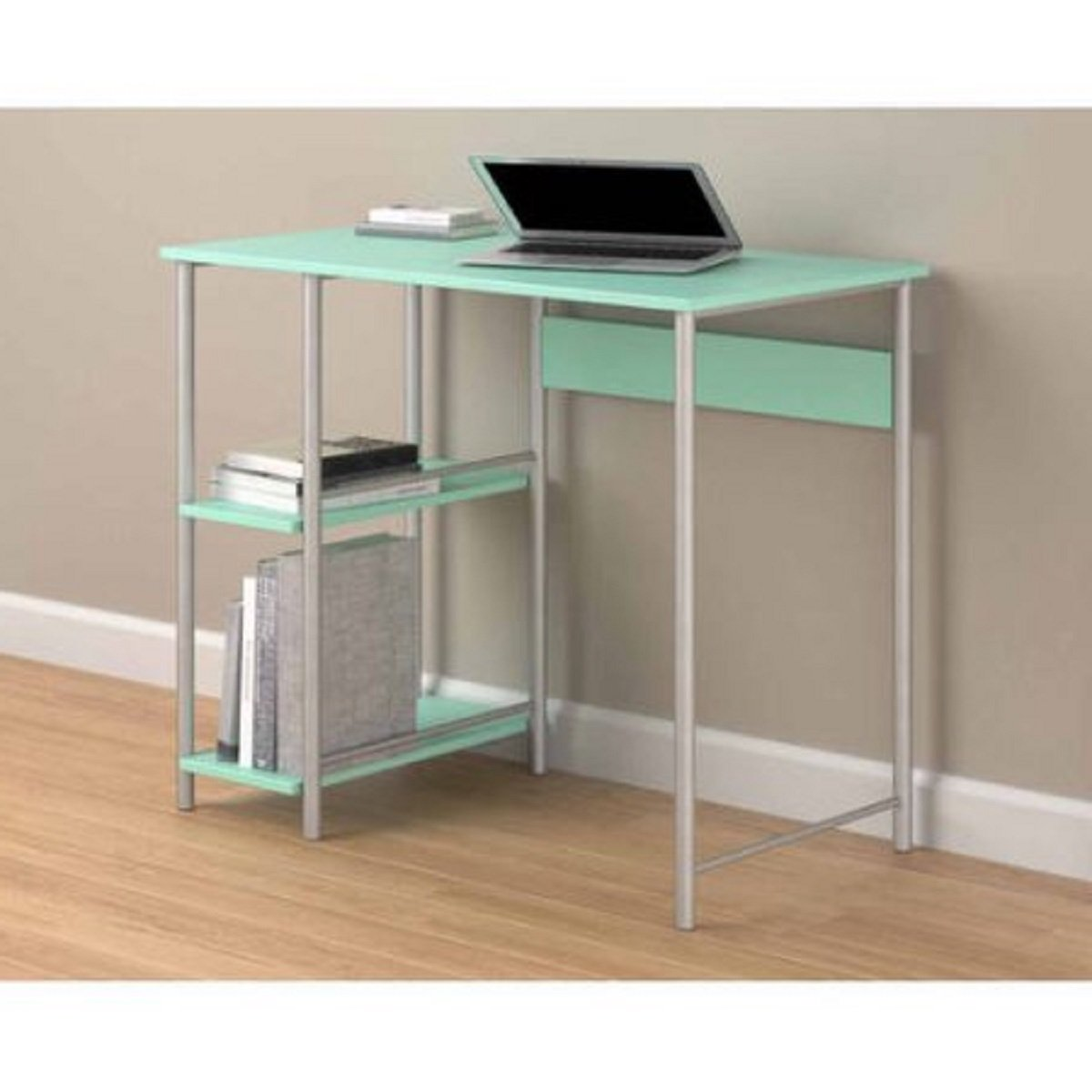 Spearmint Sturdy Metal Frame Laminated Particleboard And Metal Basic Student Desk, Dimensions 36Wx20Dx30H by Mainstay