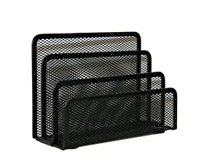 Design International Group Mesh Letter Sorter, Black (28495)