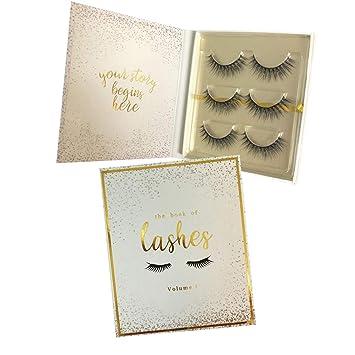 3fd88bb76988 Amazon.com : The Book of Lashes: Volume 1 - Reusable False Eyelashes -  Cruelty Free - 3 Pairs : Beauty