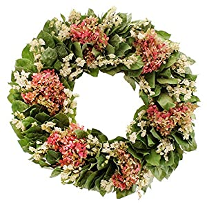 Floral Treasure Sweet Hydrangea Wreath, Green 49