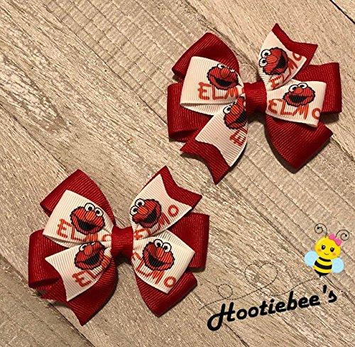Elmo Toddler Hair Bow Set]()