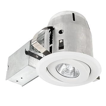 Globe Electric 4u0026quot; Dimmable Downlight Swivel Spotlight Recessed Lighting Kit Easy Install Push-  sc 1 st  Amazon.com & Globe Electric 4