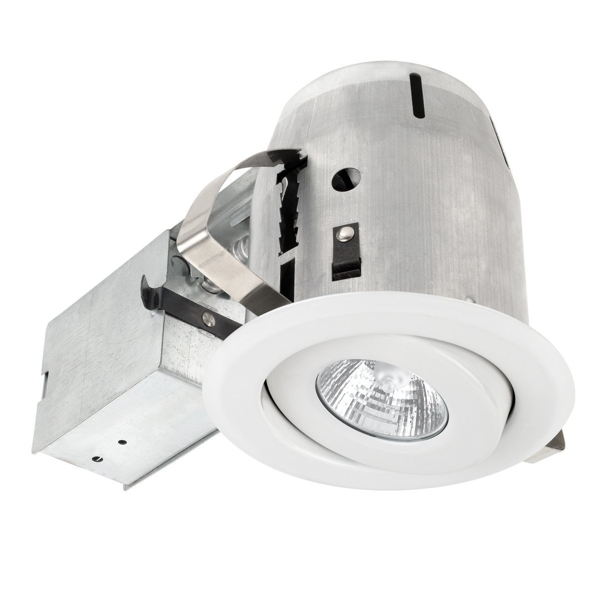 Globe Electric 4'' Dimmable Downlight Swivel Spotlight Recessed Lighting Kit, Easy Install Push-N-Click Clips, 90540