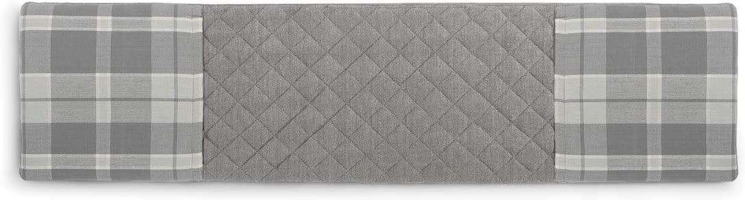 Quilted Plaid Farmhouse Grey 30 x 8 Cotton Blend Fabric Double Oven Mitt