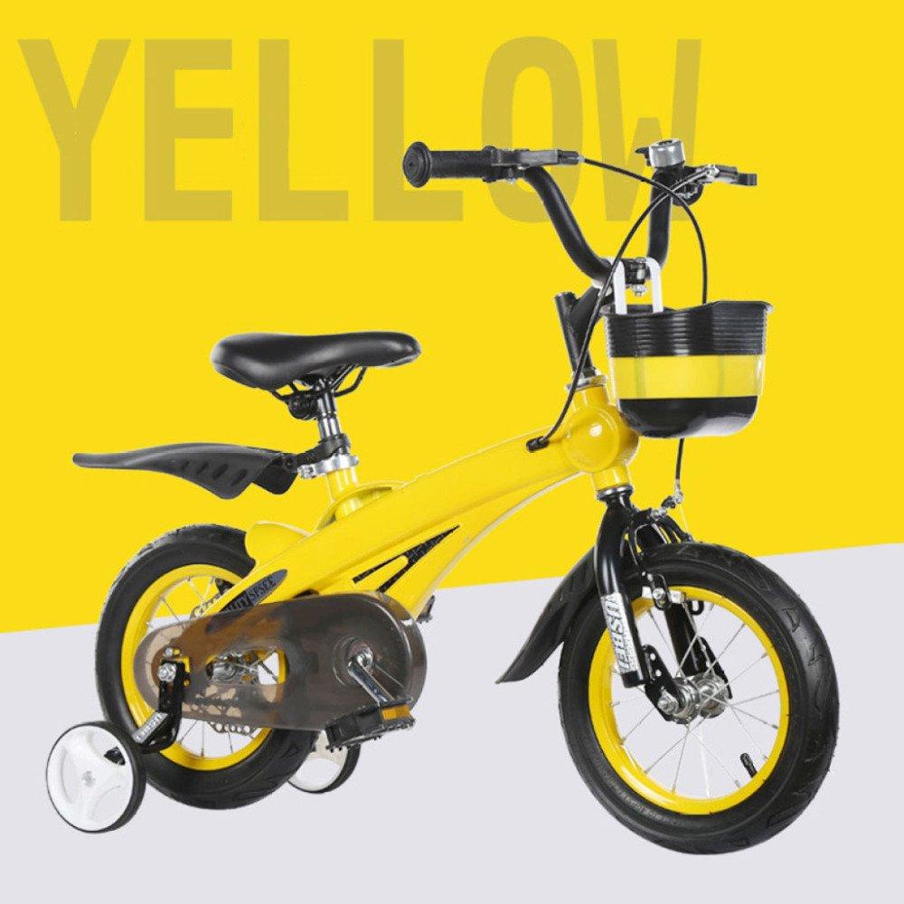 QXMEI Bicicletas para Niños Aleación De Magnesio De Un Cuadro 2-3-6-10 Años De Edad Niño Y Niña Bicicleta De 12/14/16 Pulgadas para Niños,Blue-12Inches: ...