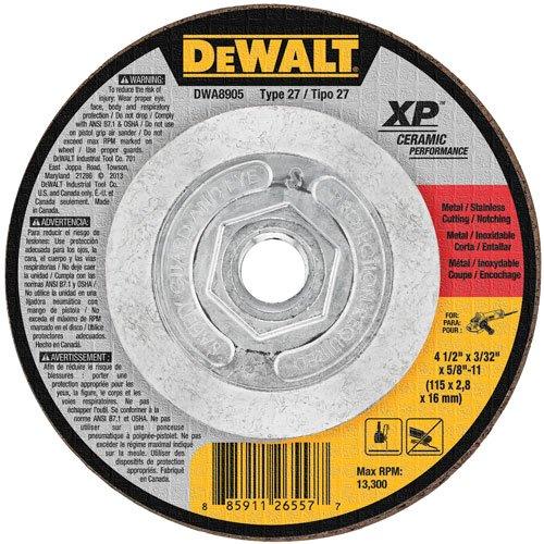 DEWALT DWA8905 Extended Performance 4-1/2-Inch x 3/32-Inch x 5/8-Inch -11 Ceramic (Dewalt Stainless Steel Grinding Wheel)