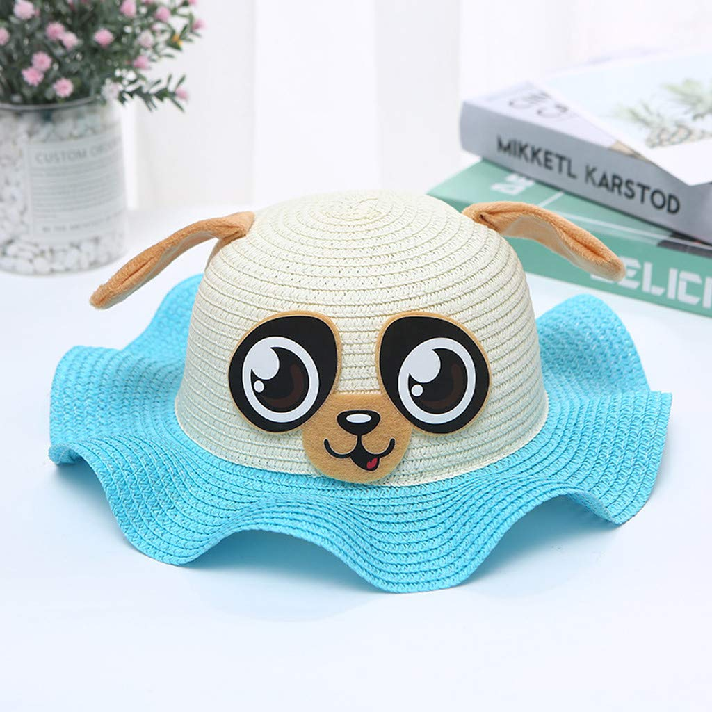 Spf Protective Beach Summer Play Hat Womola Toddler Kids Baby Girl Cartoon Breathable Sun Hat Cotton Foldable 50