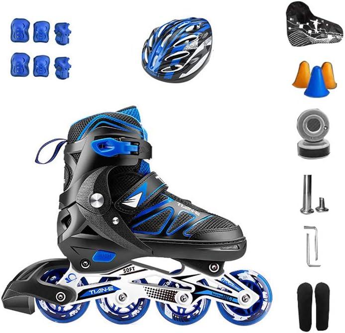 XZ15 インラインスケート、大人の単一の行のスケート専門の男性と女性アジャスタブルスケートフルセットのフルフラッシュ (Color : #3, Size : Extra large models (42-45yards)) #3 Extra large models (42-45yards)