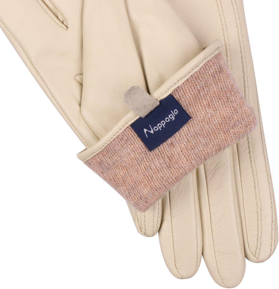 Nappaglo Nappa Leather Touchscreen Gloves Warm Handmade Lambskin for Women