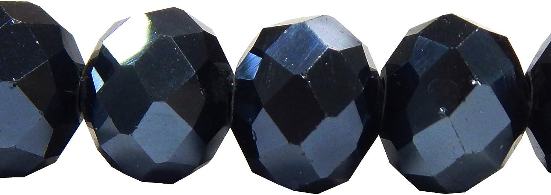 300 x Glasschliffperlen Rondelle facettiert klar Perlenpaket 6mm Durchmesser NEU