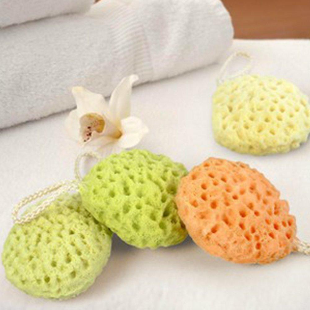 Esponja de baño para bebé, esponja de mar natural, esponja de baño para bebé, suave y duradera, 2 unidades FAVOLOOK