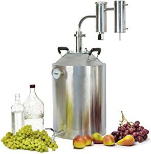 SPEAKEASY PRO 8 Gallon Moonshine Still, Whiskey Brandy Grapa Vodka Essential Oils Distiller, DIY Kit