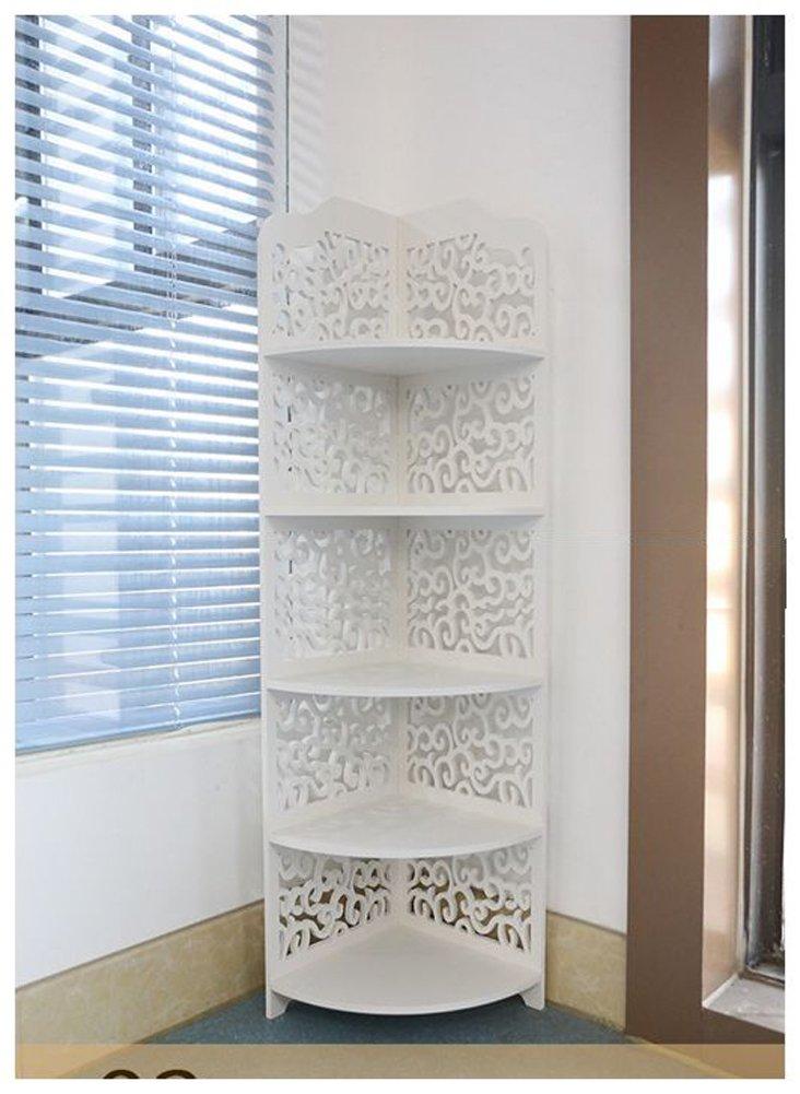 VERCART Pvc Bathroom Carved Wood Board Room Accommodating Racks Landmark Type 5 Layer Shoe Rack