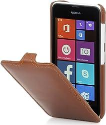 StilGut®, housse UltraSlim pour Nokia Lumia 530, en cognac