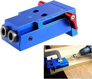 klinkamz Mini Pocket Hole Jig Kit Wooden Link System 3 Step Drill Bit Slanted Wood Dowel Jig Tools Set