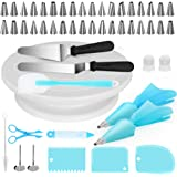 Kootek Cake Decorating Supplies 52-in-1 Baking Accessories with Cake Turntable Stands, Cake Tips, Icing Smoother Spatula, Piping Pastry Bags and Decorating Pen Frosting Tools Set Kitchen Utensils