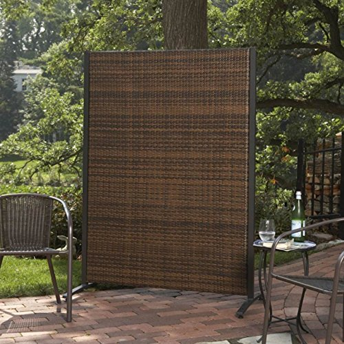 Versare outdoor wicker resin room divider desertcart Patio privacy screen