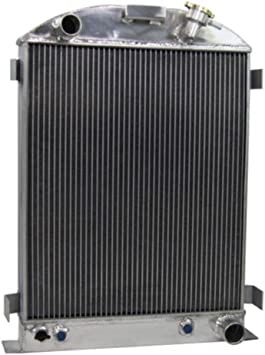4 Row Core Aluminum Radiator For 1933-1934 Ford-Grill-Shells Chevy V8-Engine