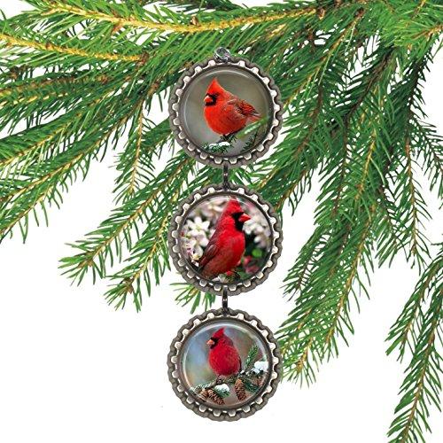 Cardinals Bottlecap Christmas Ornament