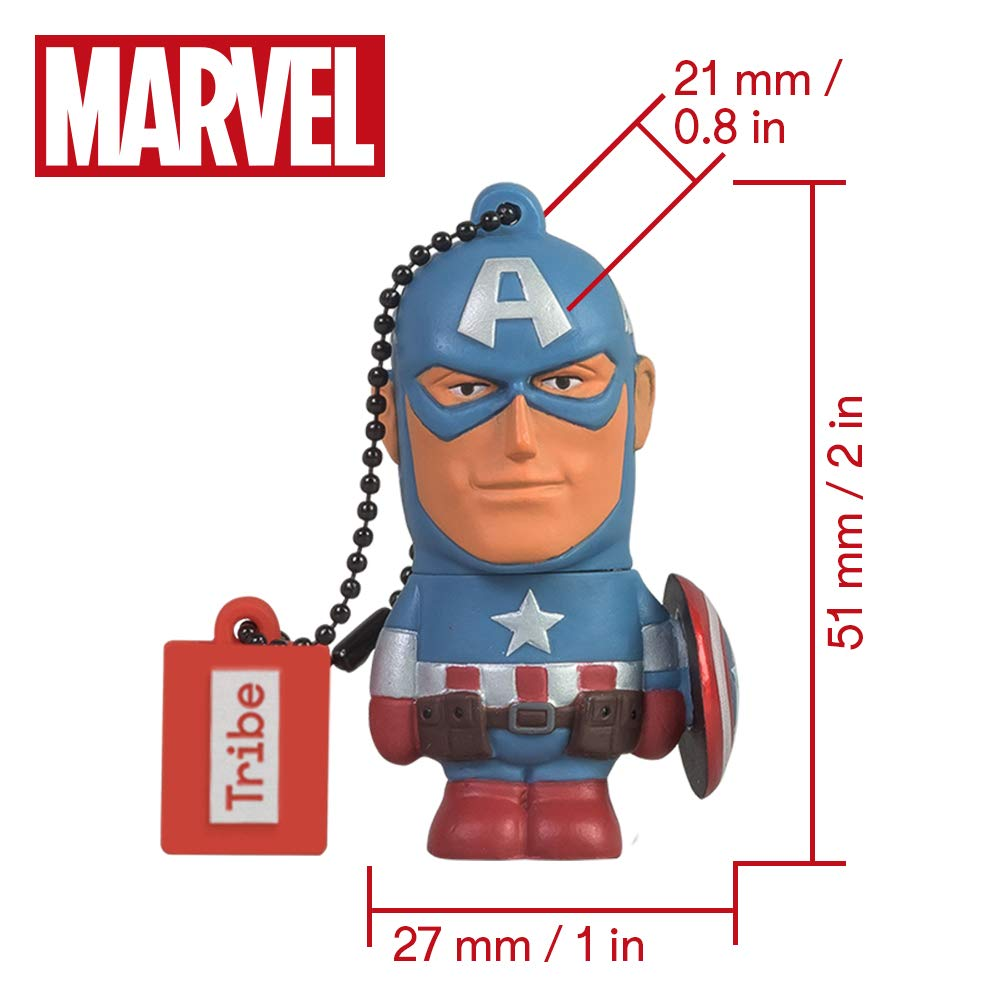 Llave USB 32 GB Captain America - Memoria Flash Drive 2.0 Original ...