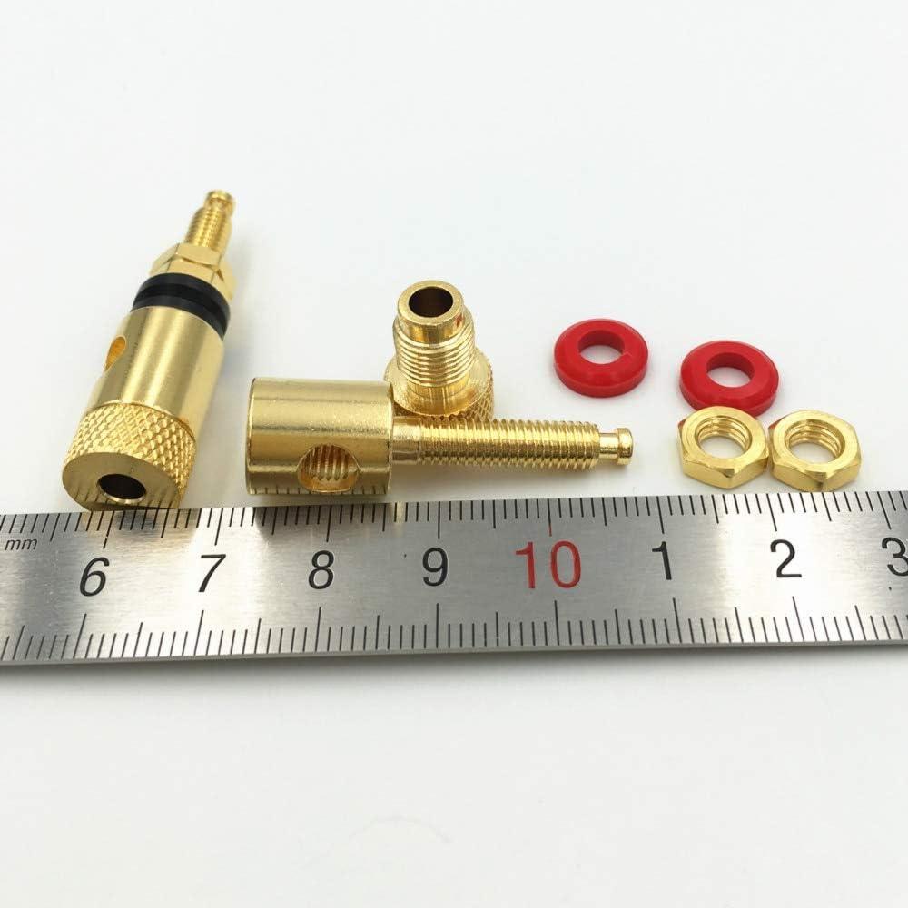 Mercury/_Group Audio Plugs 40Pcs Gold Plated Brass Audio Speaker Binding Post for 4mm Diameter Banana Plug