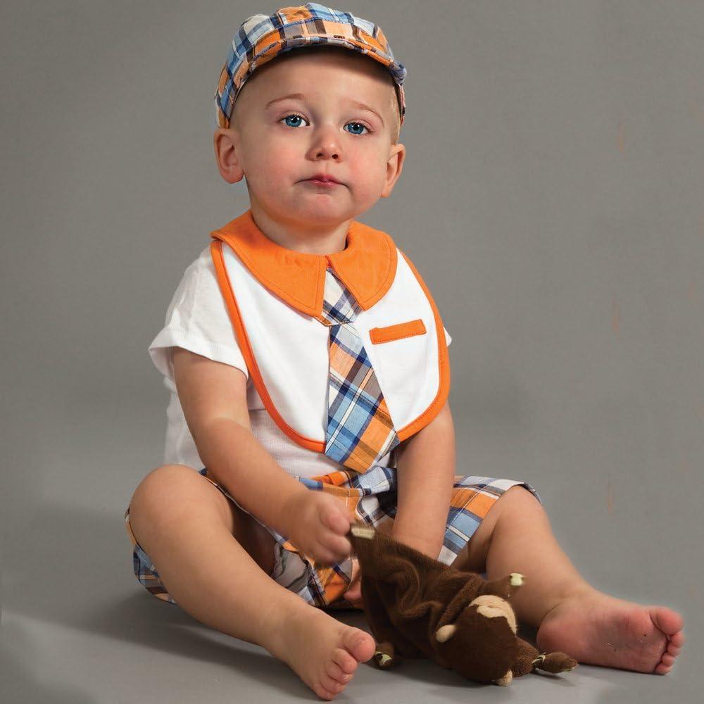 Pavilion 0-3 Months Orange Plaid Baby Shorts