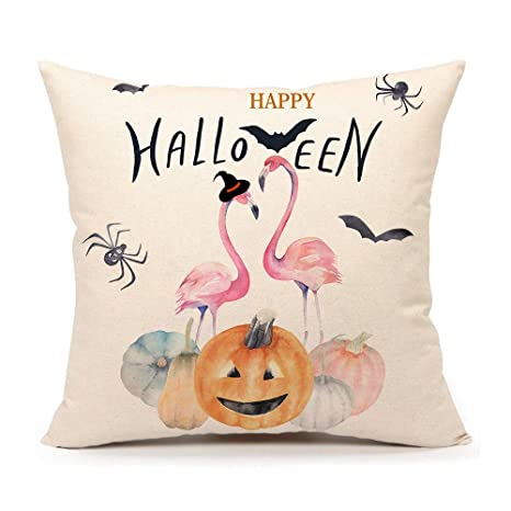 Amazon.com: 4TH Emotion Happy Halloween - Funda de cojín de ...