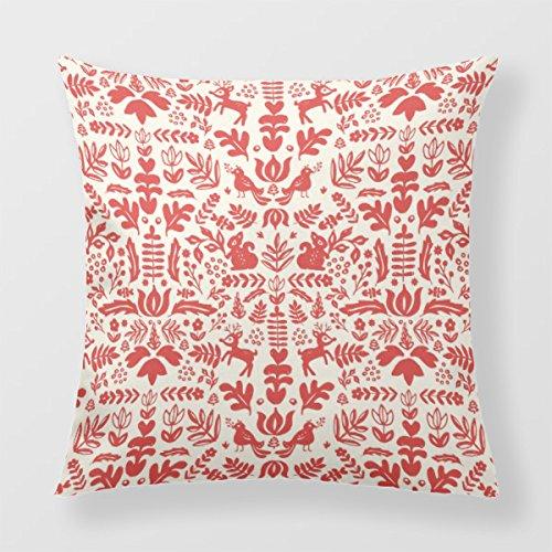 Lightinglife Chic Decorative Pillow Christmas Decorative Throw Pillow For Sofa Folk Nordic 18 X 18 Pillow BEISI xdq