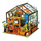 Oshide DIY House Model Flower House Educational Assembled Model Miniature Dolls House with Furniture, without Dust Cover (10#)