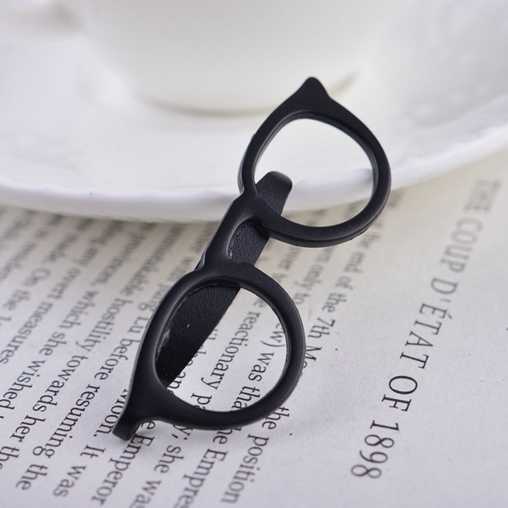LANDUM 1 Piece Tie Clip for Mens, Men Glasses Tie Bars Pin Clasp for Wedding Business Suit Tie Gift Accessories - Gold by LANDUM (Image #3)