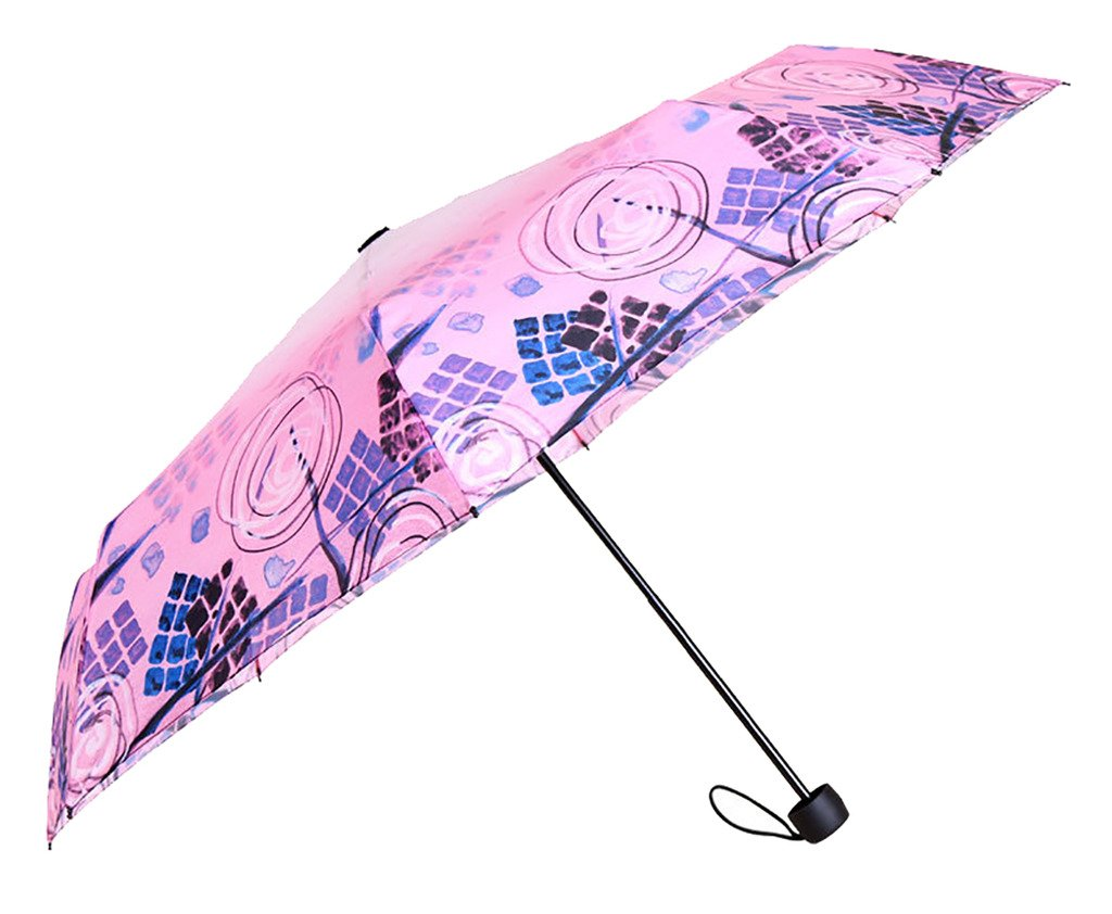 Generic Travel Foldable Umbrella Size 60inch Color Pink