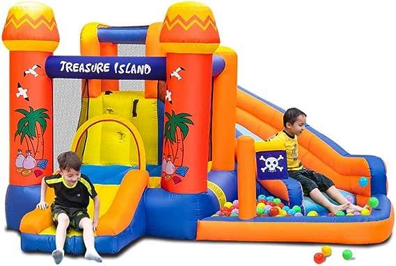 Doctor Dolphin - Parque acuático inflable para niños con tobogán para fiestas infantiles con soplador: Amazon.es: Juguetes y juegos