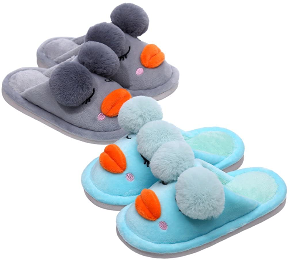 Cattior Toddler Little Kid Cartoon Warm Cute Slippers Funny Slippers