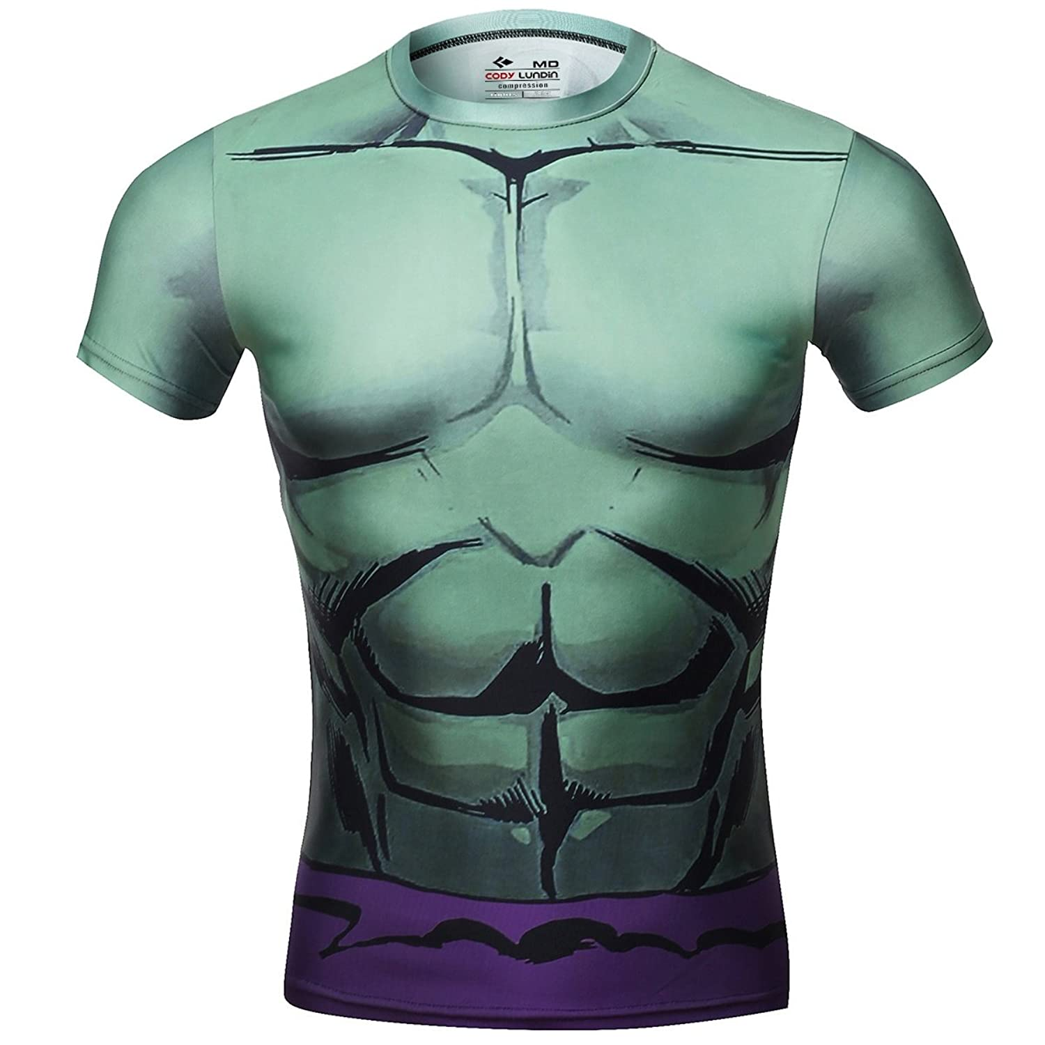 Image of Cody Lundin Men's Compression Rash Guard The Green-Skinned Monster