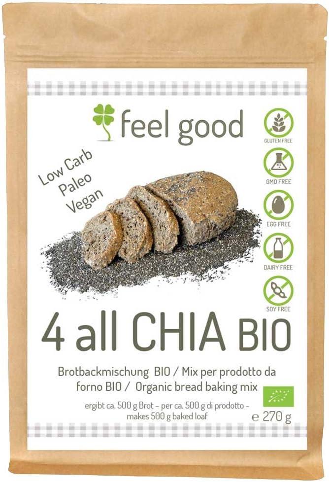 Preparato per Pane con semi di Chia 270g BIO senza glutine: Amazon.es: Salud y cuidado personal