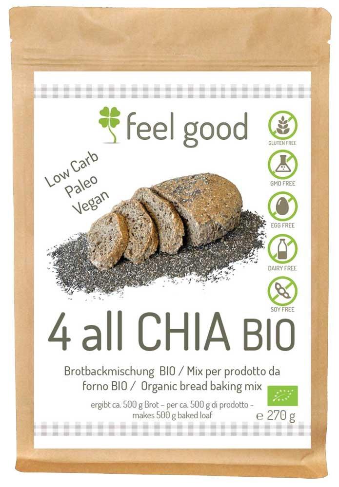 Preparato per Pane con semi di Chia 270g BIO senza glutine ...