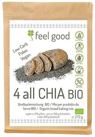Preparato per Pane con semi di Chia 270g BIO senza glutine: Amazon ...
