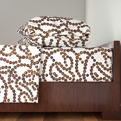 Roostery Jewelry Chain Bead 4pc Sheet Set My-Jasper by Wren Leyland King Sheet Set Made (Jasper Fabric Necklace)