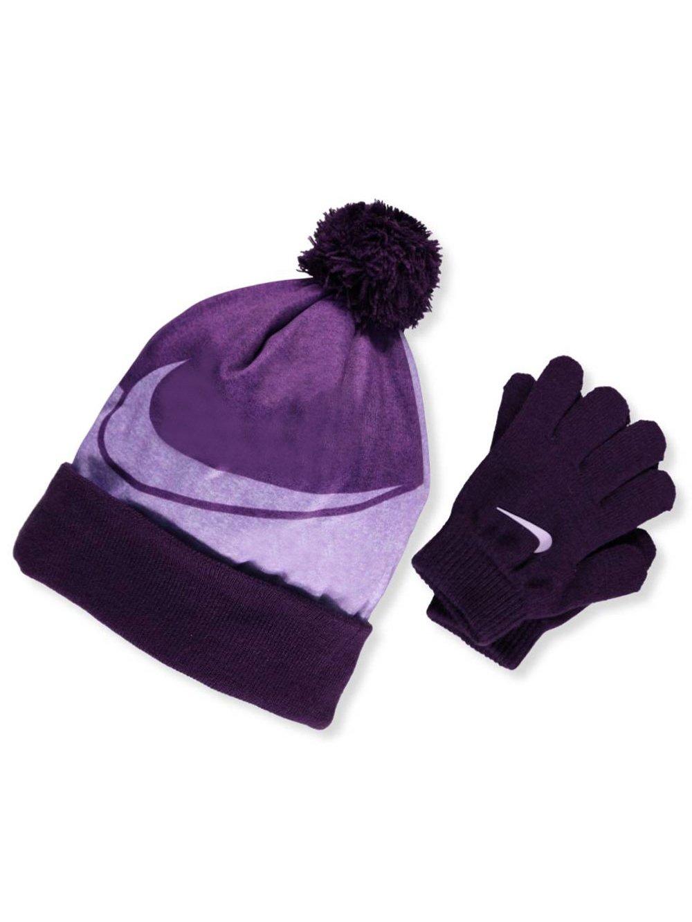 NIKE Big Girls' Beanie & Gloves Set (One Size) - Bold Berry, 7-16 by NIKE (Image #1)