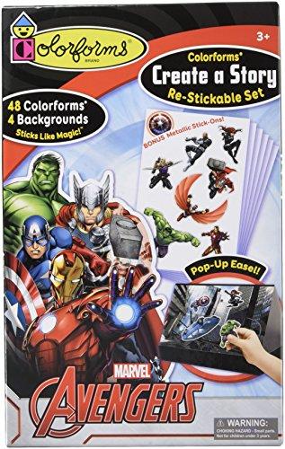 Colorforms Brand Avengers Create a Story Restickable Set