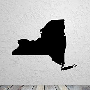 New York State Map Silhouette Wall Sticker, Vinyl Wall Decal,Decor for Windows,Living Room ,Bumper,Laptop,Tumbler,Bathroom Home Decor