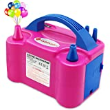 IDAODAN Portable Dual Nozzle 220V 600W Electric Balloon Blower Pump/Electric Balloon Inflator for Decoration