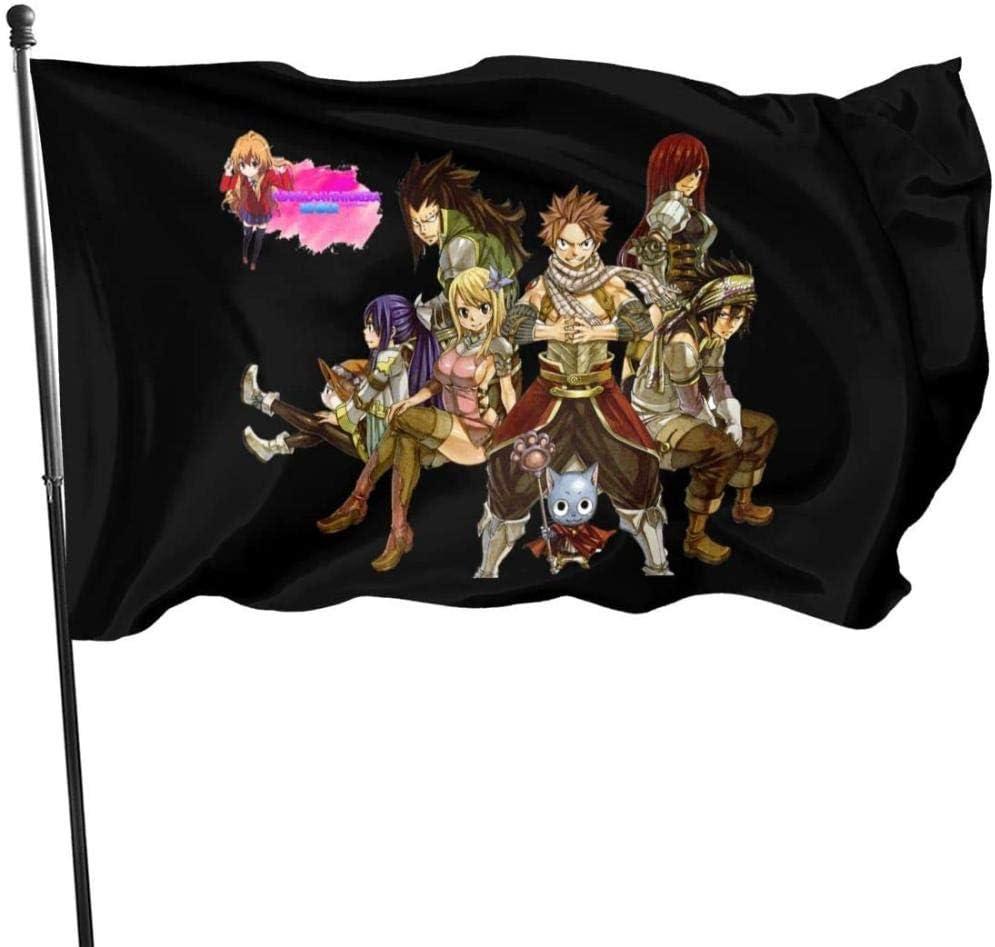 firjiyj Bandera de jardín,Fairy Tail Garden Flag Banner Material de poliéster para Sala de jardín Patio balcón decoración 90x150cm: Amazon.es: Jardín