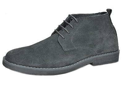 ba2e94a62c7 Bruno Marc Men s Chukka Grey Suede Leather Chukka Desert Oxford Ankle Boots  - 7 ...