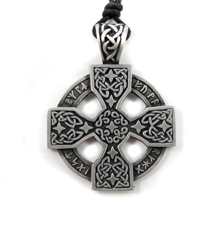 Mystical magical pewter blue trefot viking nordic spiral celtic mystical magical pewter celtic nordic viking runic druid runes cross pendant aloadofball Choice Image