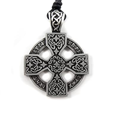 Mystical magical pewter celtic nordic viking runic druid runes mystical magical pewter celtic nordic viking runic druid runes cross pendant aloadofball Images