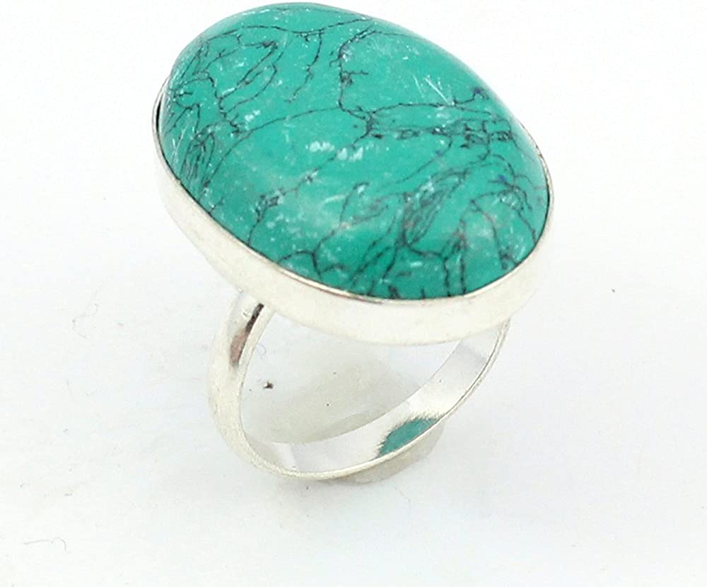 TURQUOISE FASHION JEWELRY .925 SILVER PLATED RING S12706