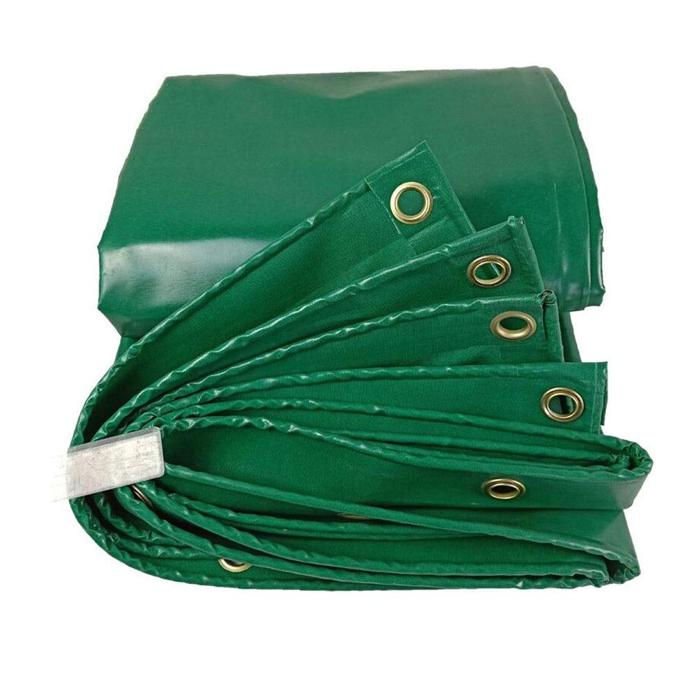 XUERUI シェルター ターポリン 防水 グランドシート 防水シート 450gsm シートカバー にとって 車両、 ガーデン家具 スポーツ アウトドア (Color : 緑, Size : 4x5m) 緑 4x5m